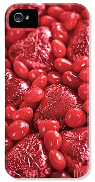 Wrapped iPhone 5 Cases - Red candy iPhone 5 Case by Elena Elisseeva