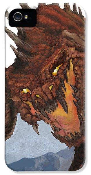 Red Dragon IPhone 5 / 5s Case by Matt Kedzierski