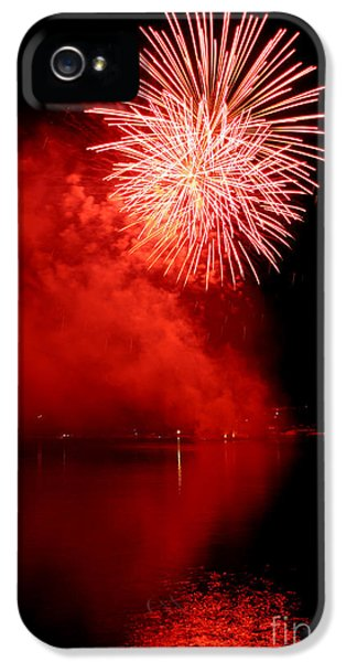 Fire Works iPhone 5 Cases - Red fire iPhone 5 Case by Martin Capek