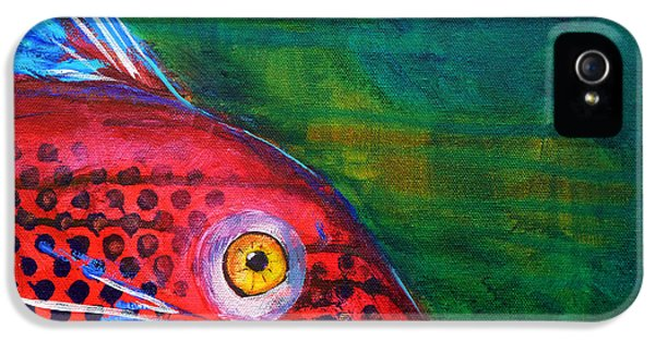 Red Fish IPhone 5 / 5s Case by Nancy Merkle