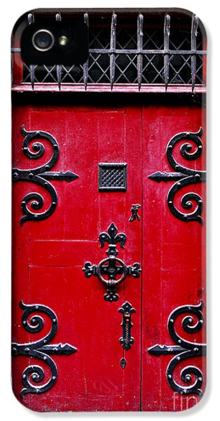 Sight iPhone 5 Cases - Red medieval door iPhone 5 Case by Elena Elisseeva