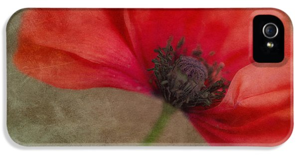 Landscape Format iPhone 5 Cases - Red Poppy iPhone 5 Case by Priska Wettstein