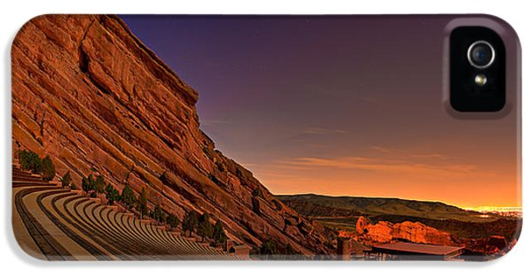 Theater iPhone 5 Cases - Red Rocks Amphitheatre at Night iPhone 5 Case by James O Thompson