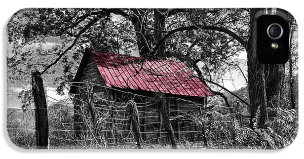 Foliage iPhone 5 Cases - Red Roof iPhone 5 Case by Debra and Dave Vanderlaan