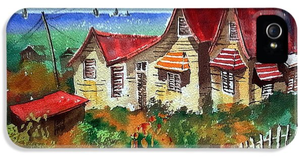 Shanty iPhone 5 Cases - Red Roofs in Barbados iPhone 5 Case by Val Byrne