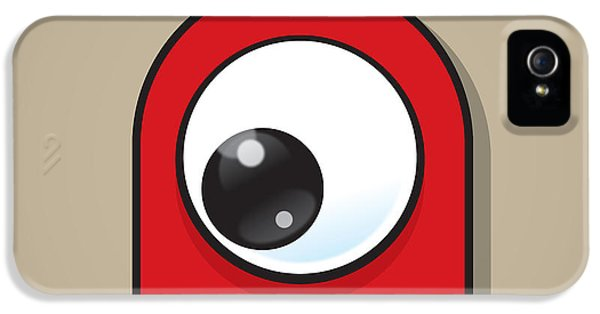 Eyeball iPhone 5 Cases - Red iPhone 5 Case by Samuel Whitton