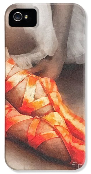 Mo T iPhone 5 Cases - Red Shoes iPhone 5 Case by Mo T