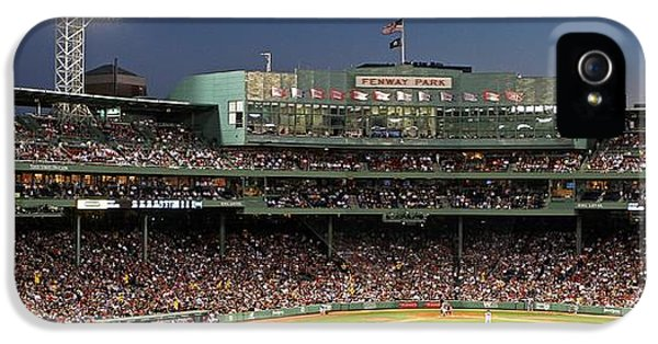 Ballpark iPhone 5 Cases - Red Sox and Fenway Park  iPhone 5 Case by Juergen Roth