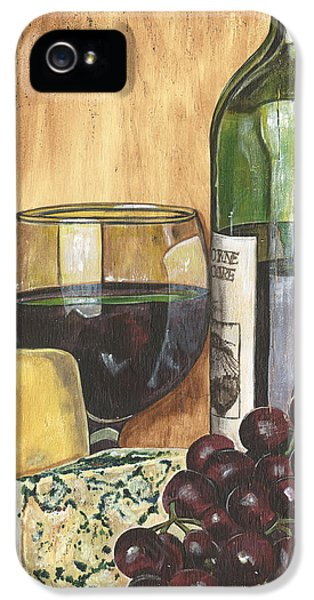 Bar iPhone 5 Cases - Red Wine and Cheese iPhone 5 Case by Debbie DeWitt