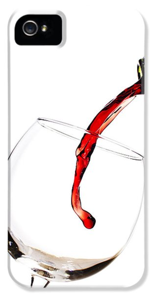 High Key iPhone 5 Cases - Red Wine Poured into Wineglass iPhone 5 Case by Dustin K Ryan