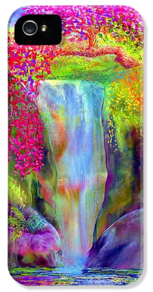 Flowering iPhone 5 Cases - Redbud Falls iPhone 5 Case by Jane Small