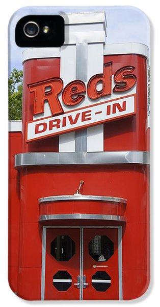 Barstools iPhone 5 Cases - Reds Drive- In iPhone 5 Case by Laurie Perry