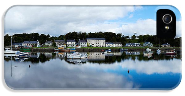 Social History iPhone 5 Cases - Reflection Of Clouds In Water, Newport iPhone 5 Case by Panoramic Images