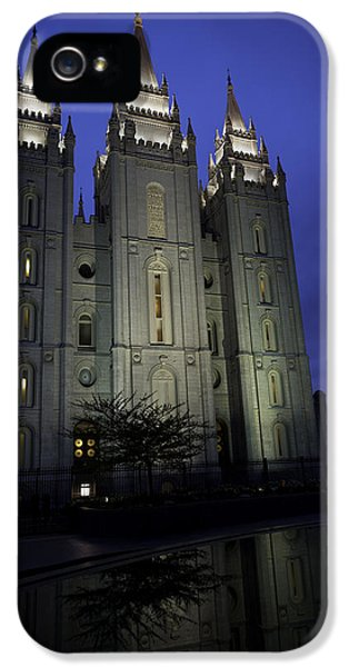 Reflective iPhone 5 Cases - Reflective Temple iPhone 5 Case by Chad Dutson