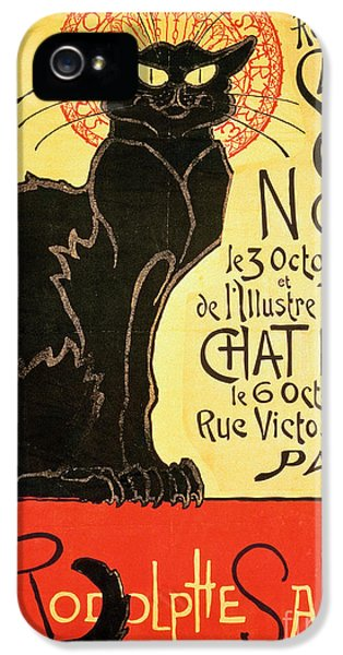 Black Cat iPhone 5 Cases - Reopening of the Chat Noir Cabaret iPhone 5 Case by Theophile Alexandre Steinlen