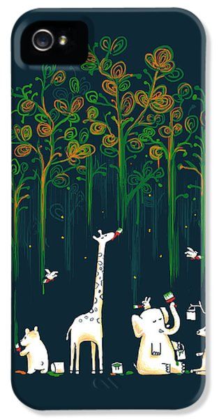 Surreal iPhone 5 Cases - Repaint the forest iPhone 5 Case by Budi Kwan