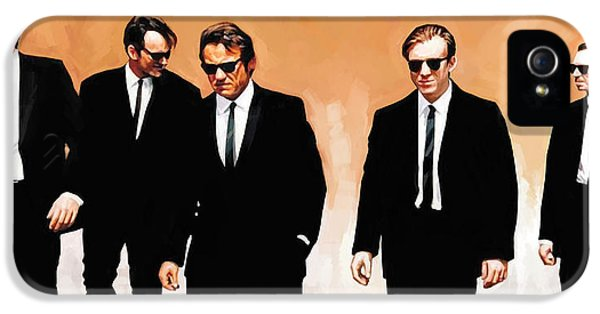 Harvey Keitel iPhone 5 Cases - Reservoir Dogs Movie Artwork 1 iPhone 5 Case by Sheraz A
