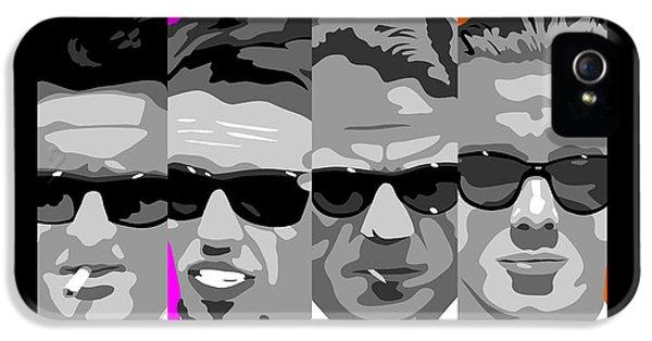 Harvey Keitel iPhone 5 Cases - Reservoir Dogs pop art iPhone 5 Case by Paul Dunkel