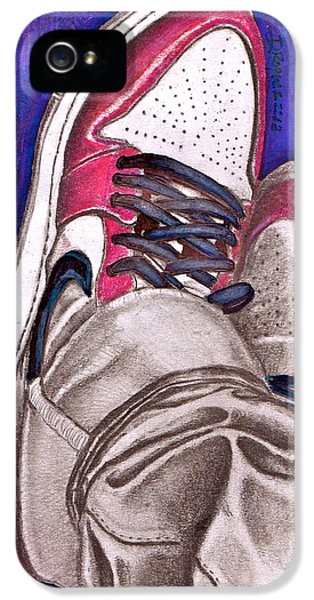 Air Jordan iPhone 5 Cases - Retro 1.2 iPhone 5 Case by Dallas Roquemore