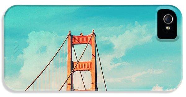 Gate iPhone 5 Cases - Retro Golden Gate - San Francisco iPhone 5 Case by Melanie Alexandra Price