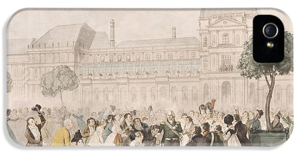 Restoration iPhone 5 Cases - Return Of Louis Xviii 1755-1824 To Paris, 8th July 1815 Litho iPhone 5 Case by French School