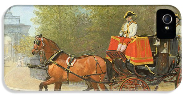 Returning From Her Majestys Drawing Room IPhone 5 / 5s Case by Alfred Corbould