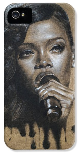 Pop Icon iPhone 5 Cases - Rihanna Dripping Talent  iPhone 5 Case by Fithi Abraham