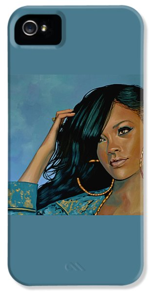 Rihanna Painting IPhone 5 / 5s Case by Paul Meijering