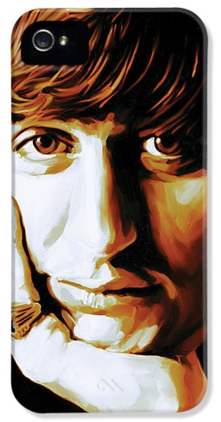 Ringo Starr iPhone 5 Cases - Ringo Starr Artwork iPhone 5 Case by Sheraz A