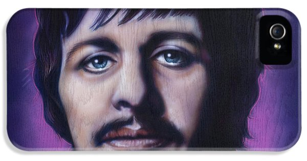 Ringo Starr iPhone 5 Cases - Ringo Starr iPhone 5 Case by Tim  Scoggins