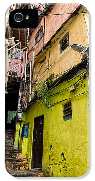 Shanty iPhone 5 Cases - Rio de Janeiro Brazil -  Favela Housing iPhone 5 Case by Jon Berghoff