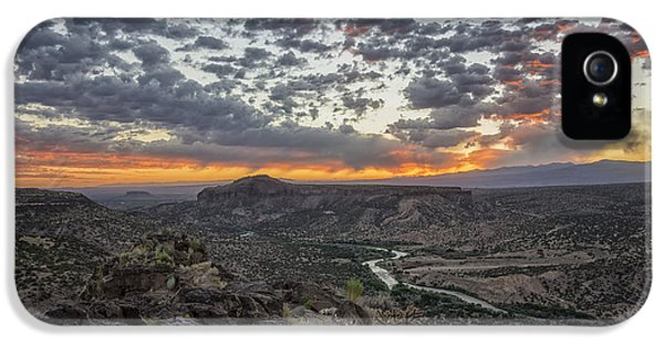 Tourism iPhone 5 Cases - Rio Grande River Sunrise 2 - White Rock New Mexico iPhone 5 Case by Brian Harig
