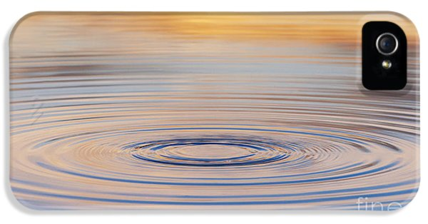 Waterdrop iPhone 5 Cases - Ripples on a Still Pond iPhone 5 Case by Tim Gainey