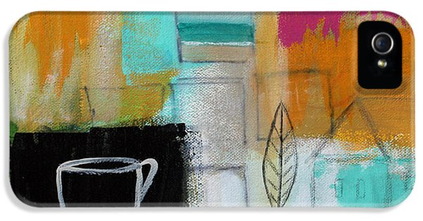 House Art iPhone 5 Cases - Rituals- Contemporary Abstract Painting iPhone 5 Case by Linda Woods