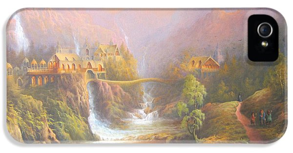 Film Art iPhone 5 Cases - Rivendell A Hobbits Tale. The Red Book iPhone 5 Case by Joe  Gilronan