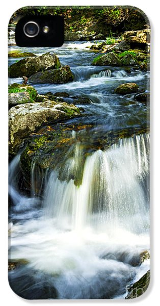 River iPhone 5 Cases - River flowing through woods iPhone 5 Case by Elena Elisseeva