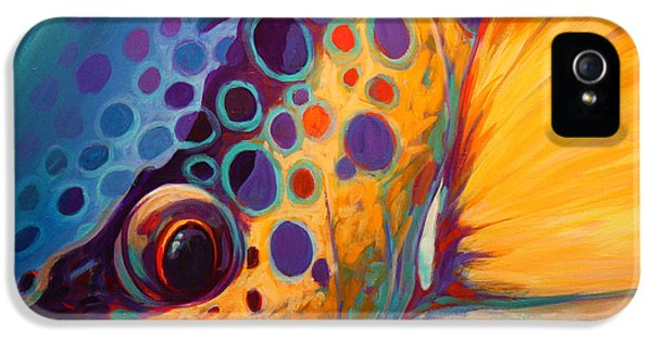Contemporary Art iPhone 5 Cases - River Orchid - Brown Trout iPhone 5 Case by Mike Savlen