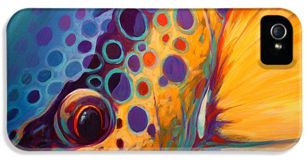 Fishing iPhone 5 Cases - River Orchid - Brown Trout iPhone 5 Case by Mike Savlen