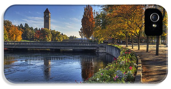 Clock iPhone 5 Cases - Riverfront Park - Spokane iPhone 5 Case by Mark Kiver