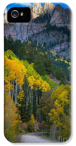 North America iPhone 5 Cases - Road to Silver Mountain iPhone 5 Case by Inge Johnsson