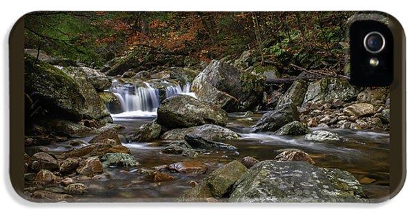 Roaring Brook - Sunderland Vermont Autumn Scene  IPhone 5 / 5s Case by Thomas Schoeller