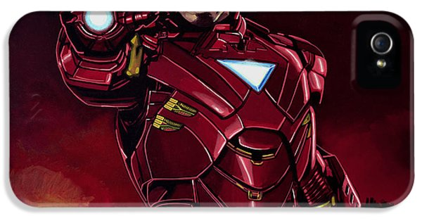 Suit iPhone 5 Cases - Robert Downey Jr. as Iron Man iPhone 5 Case by Paul  Meijering