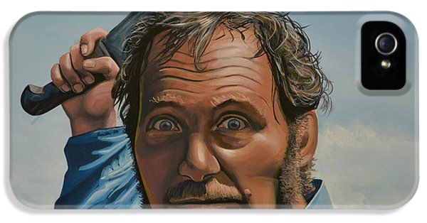 Three iPhone 5 Cases - Robert Shaw in Jaws iPhone 5 Case by Paul  Meijering