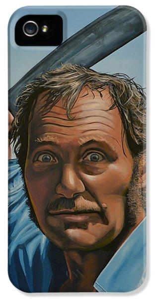 Paul Meijering iPhone 5 Cases - Robert Shaw in Jaws iPhone 5 Case by Paul  Meijering