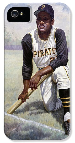 National League iPhone 5 Cases - Roberto Clemente iPhone 5 Case by Gregory Perillo