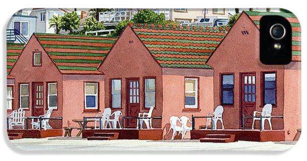 Tourism iPhone 5 Cases - Roberts Cottages Oceanside iPhone 5 Case by Mary Helmreich