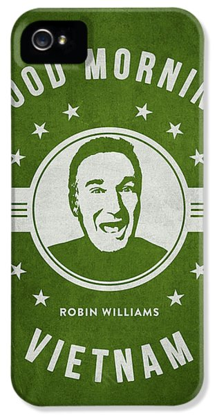 Vietnam Wall iPhone 5 Cases - Robin Williams - Green iPhone 5 Case by Aged Pixel