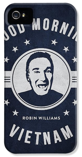Vietnam Wall iPhone 5 Cases - Robin Williams - Navy Blue iPhone 5 Case by Aged Pixel