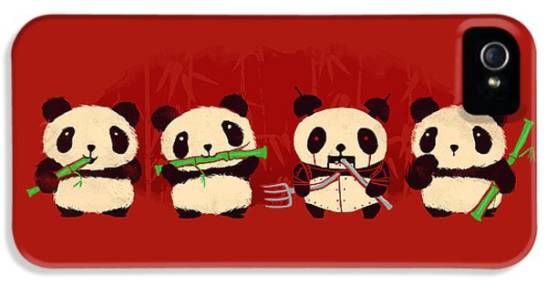 Cartooning iPhone 5 Cases - Robot Panda iPhone 5 Case by Budi Satria Kwan
