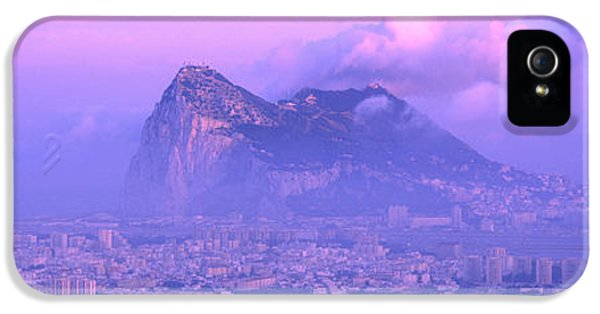 Andalusia iPhone 5 Cases - Rock Of Gibraltar, Andalucia, Spain iPhone 5 Case by Panoramic Images